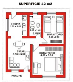 VISIT FOR MORE Plano-de-casa-económica.jpg The post Plano-de-casa-económica.jpg appeared first on Jeans. The Plan, How To Plan, Small House Plans, House Floor Plans, 2 Bedroom House Plans, Apartment Floor Plans, Small House Design, House Layouts, Architecture Plan