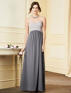 Alfred Angelo Bridesmaid Style 7289L Can get two-toned in any of their colors! Loveeee! There's a slate teal that would look great on top and a deep teal for the bottom