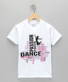 This White 'Dance' Collage Tee - Girls & Women is perfect! #zulilyfinds