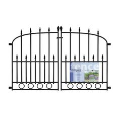 Lowes $22 No Dig Powder Coated Steel Fence Gate (Common: 29.3