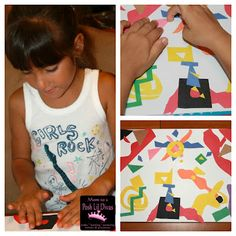 Matisse - dessiner avec ciseaux