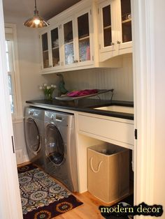 Small laundry room - maybe a new use for old cabinets