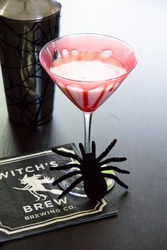 Creepy Spiced Caramel Apple Martini (4 oz vanilla vodka   2 oz caramel apple liqueur   2 oz RumChata   1 oz milk)