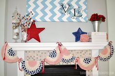 DIY 4th of July : DIY 4th of July Bunting Banner