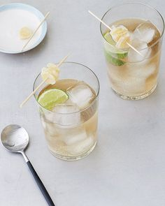 Sweet Paul: Gin & Ginger Cocktail Recipe 6 oz gin 4 oz domaine de canton ginger liquer 2 cups ginger ale 2 limes, juiced Read more: http://www.sweetpaulmag.com/food/gin-amp-ginger-cocktail#ixzz315ikg8As