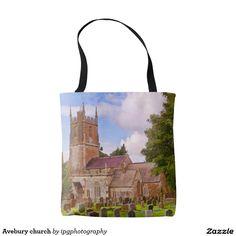 Avebury church, Wiltshire.  tote bag