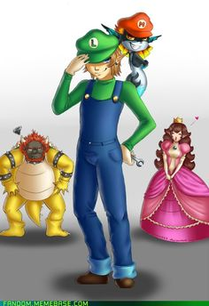 "Mario and Zelda crossover... I am such an idiot. It took me forever to realize that the L and M hats were for ""Link"" and ""Midna."""
