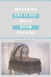 How to sleep train a baby while sharing a room.