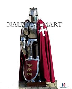 NauticalMart Medieval Crusader Full Suit Of Armour Knight Combat Wearable Armor