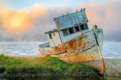 "The Point Reyes abandoned boat - nverness One of the most Instagrammable things you'll find on the Point Reyes National Seashore (really guys, it has its own Flickr group), this abandoned fishing boat -- aptly named the ""Point Reyes"" -- mysteriously ended up in Inverness and when the property it was resting on was sold, the new owners left it for fear of upsetting local photographers."