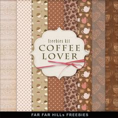 FREE Freebies Kit of Backgrounds - Coffee Lover By Far Far Hill