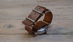 Leather Watchstrap | Wood