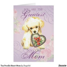 Toy Poodle Heart Mom