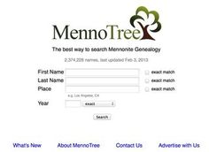 A new Mennonite genealogy search engine has gone online that should be a huge help to anyone searching for Mennonite ancestors. The new web site already claims to have more than 2 million names in its database.