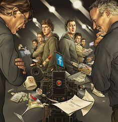 The Social Network, Wired Magazine : Martin Ansin, Illustrator   Illustration Portfolio
