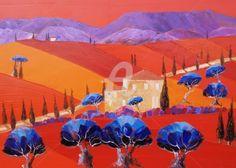 """""""  On  Dirait le Sud  """" - Peinture,  82x65 cm ©2012 par Julie Pioch Peintre Fauviste -                        Fauvisme"""