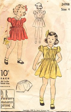 1940s Du Barry Girls\'  and Toddlers\' Collared by daisyepochvintage, $8.00