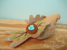 little dear tracks: fancy felt woodland animals