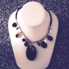 #Black #Leather Strand #Necklace Mixed Beads #Pendant #Womens #Fashion #Jewelry on #Sale #Pendant #shop #ebay #necklaces #affordable #musthave