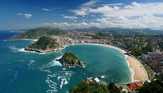 For this final entry on my Spain Travel Wish List, I would like to focus on the area between Bilbao and San Sebastian in the Basque Region o. Cool Places To Visit, Places To Travel, Travel Destinations, Travel Deals, Budget Travel, San Sebastian Spain, Romantic Beach, Basque Country, Seaside Towns