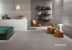 Download the catalogue and request prices of Room floor | porcelain stoneware flooring By atlas concorde, porcelain stoneware flooring with textile effect, room Collection