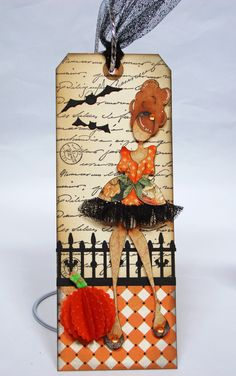 Photo Scraps - October 2, 2014 - Halloween/Fall Mixed Media Doll Tag Class with Alice