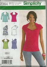 Simplicity Pattern 2364, Misses Tops, Sizes 14 to 22