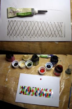 Pequeñeces  how to make miniature leaded glass