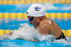 Tanja Kylliainen of Finland competes in heat one of the Women's 400m Individual Medley on Day 1 of the Rio 2016 Olympic Games at the Olympic Aquatics Stadium on on August 6, 2016 in Rio de Janeiro, Brazil.