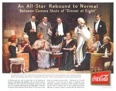 """Celebrity Advertising - 1933 Cast of """"Dinner At Eight""""... Jean Harlow, John Barrymore, Marie Dressler, Wallace Beery, Lionel Barrymore, Billy Burke, Grant Mitchell, etc."""
