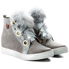 Sneakersy ROBERTO - 594 Szary Nubuk