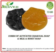 Soap Dispensers Arnved Activated Charcoal & Milk & Honey Soap  Pack: Pack of 2 Country of Origin: India Sizes Available: Free Size   Catalog Rating: ★3.8 (352)  Catalog Name: Arnved Proffesional Soaps Combo Vol 3 CatalogID_903925 C132-SC1588 Code: 012-5971088-282