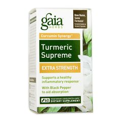 Buy Gaia Herbs Turmeric Supreme Extra Strength 60 Liquid Phyto-Caps from the Vit Curcumin Supplement, Turmeric Supplement, Health And Nutrition, Nutrition Store, Nutrition Program, Health Tips, Gaia, Routine