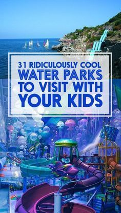 Or without them. Waterslides are fun.