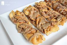 Maple Pecan Crescent Twists Is there any reason not to add crisp, crumbled bacon after the glaze? I think not!!