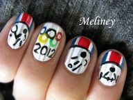 Olympic Games Nails 2012 Opening Ceremony - London Sports Nail Art Design Tutorial | Divat, szpsg vide