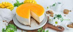 Mangojuustokakku - Reseptit - Arla Panna Cotta, Cheesecake, Koti, Baking, Ethnic Recipes, Sweet, Desserts, Bread Making, Dulce De Leche