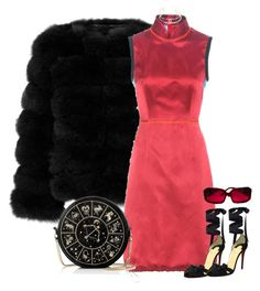 """New Years Bih"" by slaynia ❤ liked on Polyvore featuring Prada, Preciously, Christian Louboutin, Miu Miu and Chanel"