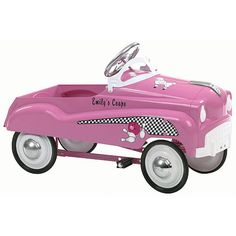 The InStep Pink Lady Pedal Car with authentic lucky strike detailing harkens back to a simpler time. This classically designed pedal car is right out of Norman Rockwells America. The InStep Pink Lady Pedal Cars solid steel construction provides outstanding durability while the chrome wheels and rubber tires finish off a great custom look. The InStep Pink Lady Pedal Car not only looks great but it performs great. The adjustable pedal drive fits a wide range of children. The functional…