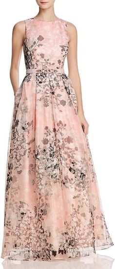I love this Eliza J Organza #Floral Gown! It is #modest but also so beautiful! Classy! #ad