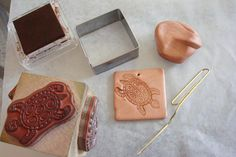 Use rubber stamps with polymer clay to produce interesting effects. You don't need much in the way of special equipment to get started.