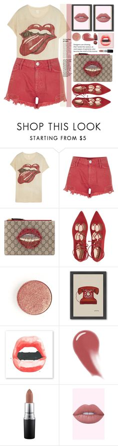 """""""Sin título #4340"""" by licethfashion ❤ liked on Polyvore featuring MadeWorn, River Island, Gucci, Americanflat, NARS Cosmetics, MAC Cosmetics, polyvoreeditorial and licethfashion"""