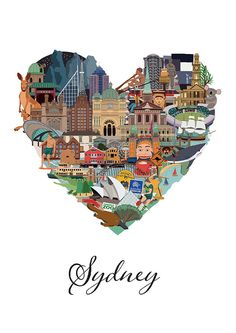 Love Sydney is an intricately illustrated interpretation of all that makes Sydney such a loveable and memorable city. From the Opera House to the Manly Ferry, C