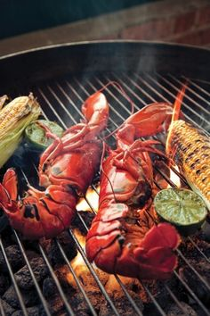 Food So Good Mall: Grilled Lobster with Beurre Blanc Sauce Fish Recipes, Seafood Recipes, Cooking Recipes, Seafood Dishes, Fish And Seafood, Seafood Bbq, My Favorite Food, Favorite Recipes, Grilled Lobster
