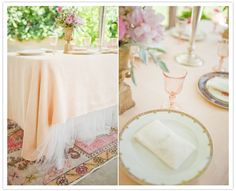 Tulle under the table cloth!