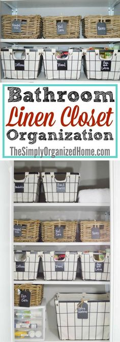 Find linen closet organization inspiration as well as tips to help you get your linen closet organized and under control! http://itz-my.com