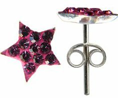 Silver crystal Star by GlitZ JewelZ © - bling bling!! - silver studs - made with over 30 crystals - comes packed inside a lovely velvet pouche GlitZ JewelZ. $14.99. Save 46% Off!