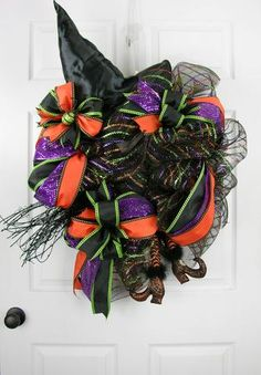 Loopy Witchy Leg Wreath