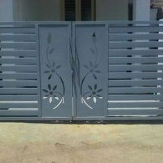 34 Amazing Steel Gate Design Ideas Match With Any Home Design - The purpose of home security gates is simple. They increase the level of security of the property and help to keep the family safe. They can enhance t. Steel Gate Design, Grill Door Design, Main Entrance Door Design, House Front Gate, Front Gate Design