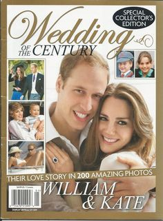 Kate Middleton Prince William magazine Special collectors edition Pre wedding